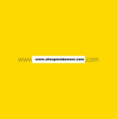 Sarı Çift Yüz Boyalı 2.7 mm 105 x 85 cm (4 Parça )